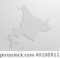 벡터, 지도, 홋카이도 40100911
