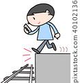 Danger !! walking smartphone. 1 40102136