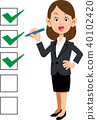 checklist, cheque, business woman 40102420