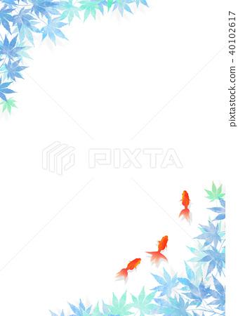 金鱼Washi _蓝色 40102617