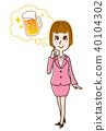 여성, 여자, 맥주 40104302