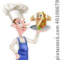chef, kebab, cartoon 40106679