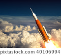 American Space Launch System In The Clouds 40106994