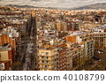 Barcelona downtown from above 40108799