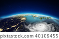 Asia from space. 3d rendering 40109455