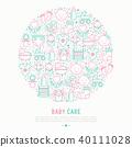 baby icon vector 40111028