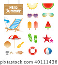 Realistic Summer Design Objects and Elements 40111436