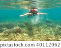 woman, snorkel, snorkelling 40112062