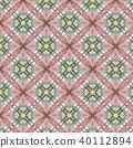 Vintage abstract seamless pattern, textile design 40112894