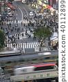 东京的城市景观在涩谷爬行交叉路口等的视图 40112899