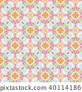 Vintage abstract seamless pattern, textile design 40114186