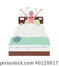 Get up senior woman illustration 40120617