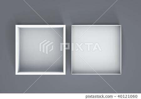 Blank open white box 40121060