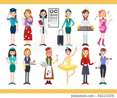 Female in different careers 40121070