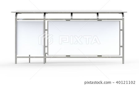 3D render bus shelter 40121102