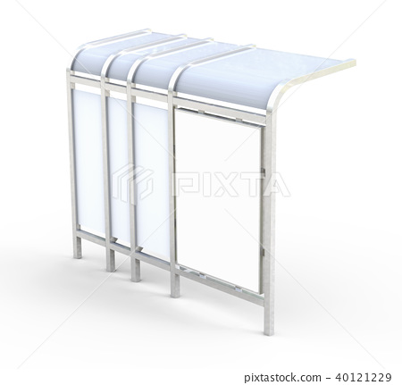 3D render bus shelter 40121229