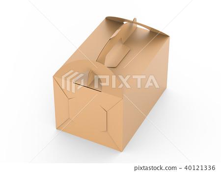 Kraft box with handle 40121336