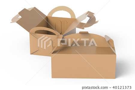 Kraft box with handle 40121373