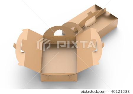 Kraft box with handle 40121388