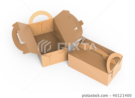 Kraft box with handle 40121400