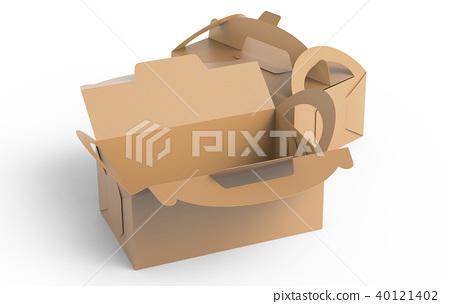 Kraft box with handle 40121402