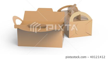 Kraft box with handle 40121412