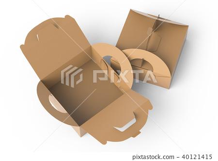 Kraft box with handle 40121415