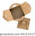 Kraft box with handle 40121417