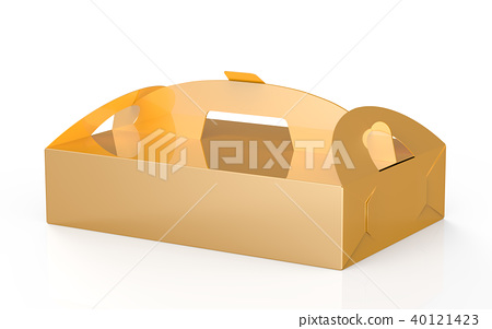 Golden box with handle 40121423