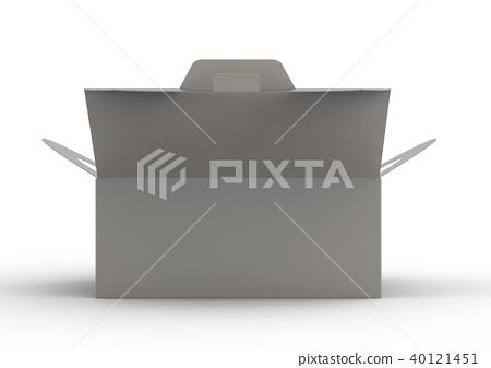 Isolated grey carton box 40121451