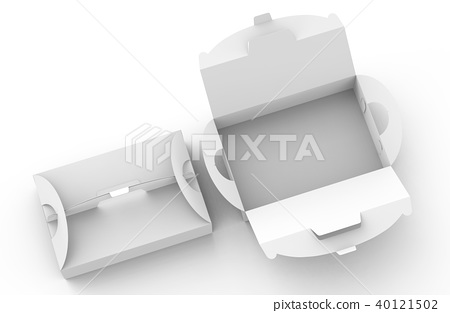 Blank paper box with handle 40121502