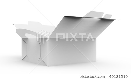 Blank open paper box with handle 40121510