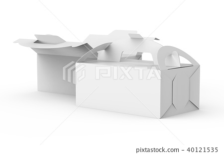 White boxes with handle 40121535