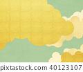 일본 - 배경 - 금 - 그린 40123107