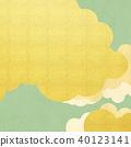 일본 - 배경 - 금 - 그린 40123141