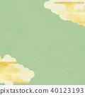 일본 - 배경 - 금 - 그린 40123193