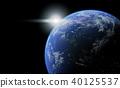 地球圖像黑背 40125537