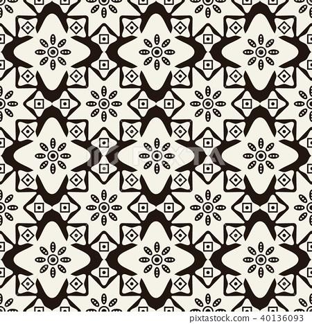 Seamless background southeast Asian aboriginal 40136093
