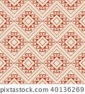 Seamless background southeast Asian aboriginal 40136269