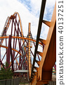 Roller coaster at amusement park 40137251
