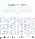 Internet of things concept with thin line icons 40138834