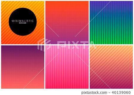 Abstract line background in gradient tones 40139060