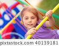 Little girl on playgarden 40139181