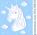 Head of paper unicorn 40139630