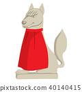 Japanese Fox Statue 40140415