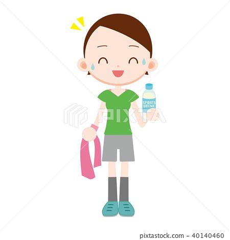 運動型飲料 一個年輕成年女性 女生 40140460