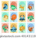 Zodiac Signs Vertical Cards 40143119