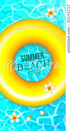 Summer water pool waves poster 40143717