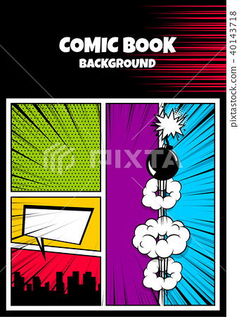 Color comics book cover vertical backdrop 40143718