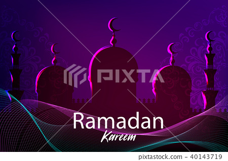 Ramadan Kareem islamic greeting card 40143719